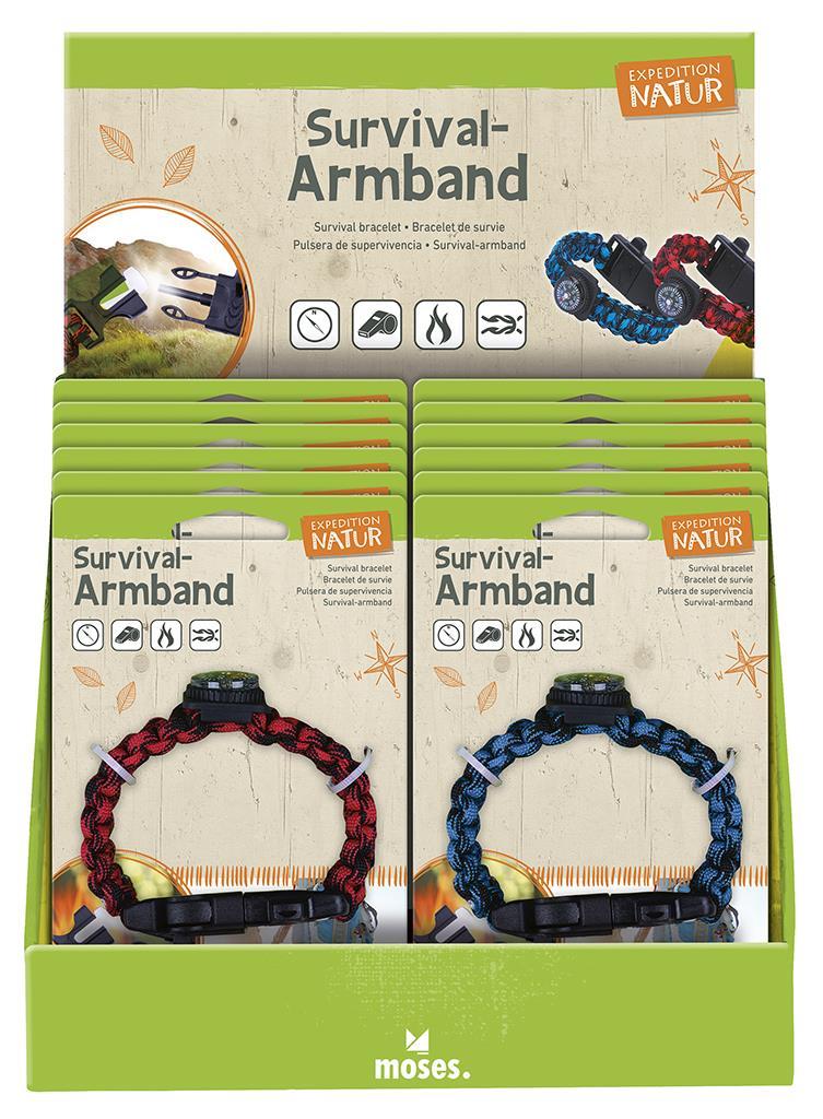 Expeditie Natuur survival armband 2 assorti