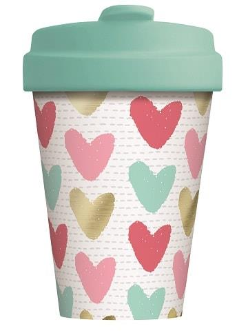 BambooCUP* Happy Hearts - Gold