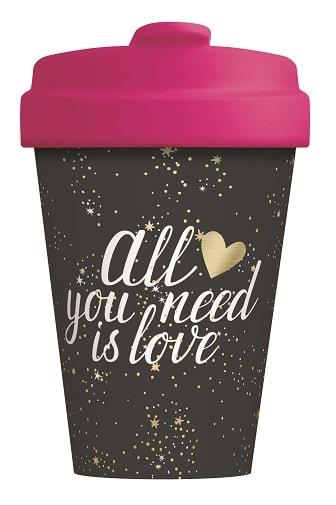 BambooCUP* All you need is Love - Gold