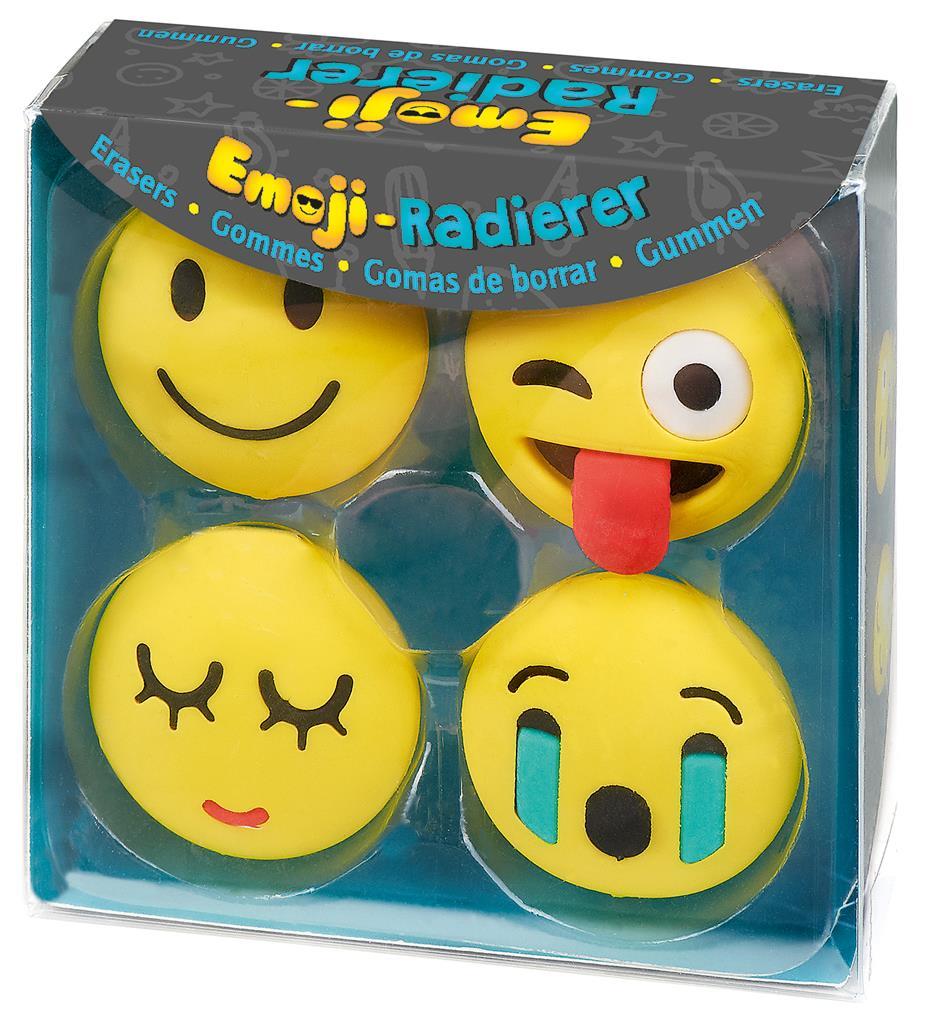 Gum set van 4 emoticons 4 assorti