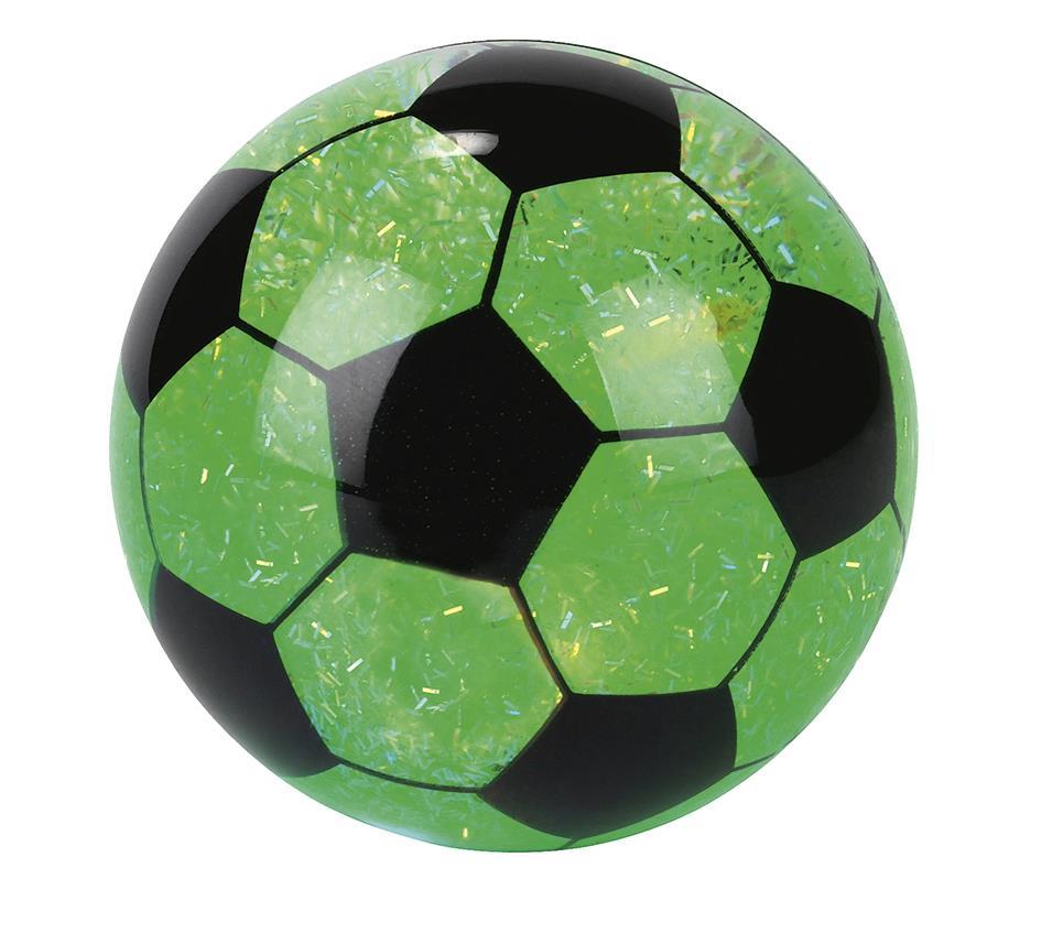 Voetbal stuiterbal met licht 2 assorti
