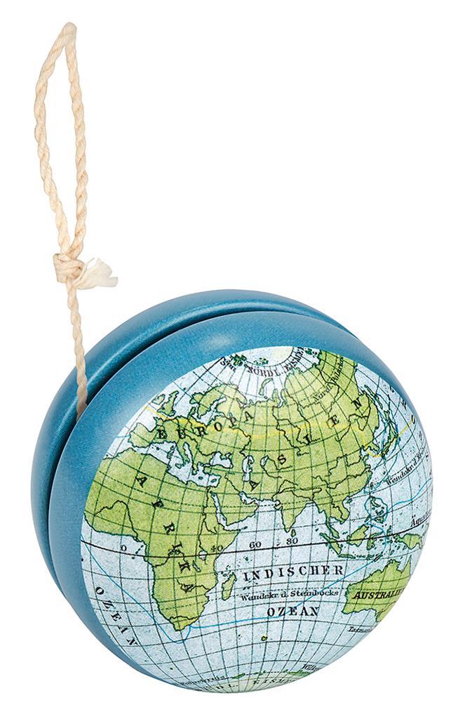 Reizen jojo metaal wereldkaart