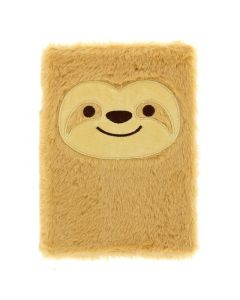 HZJH3666 Plush Sloth Notebook klein